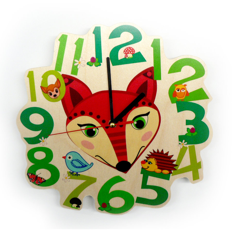 HESS Quartz Clock Fox
