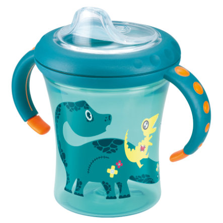 NUK Tasse d'apprentissage Starter Cup Easy Learning, bec souple en silicone, 220 ml, pétrole