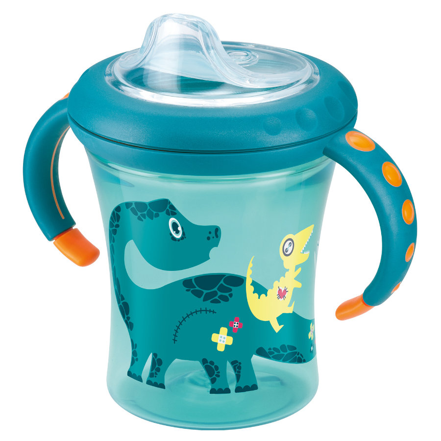 NUK Easy Learning Starter Cup Soft- Siliconen drinktuit 220ml petrol