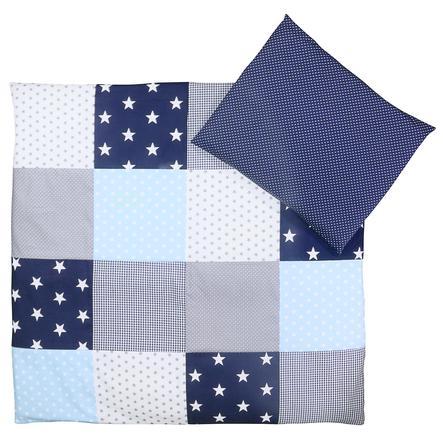 Ullenboom Baby Bettwäsche Set Blau Hellblau Grau 80 X 80 Cm 35 X