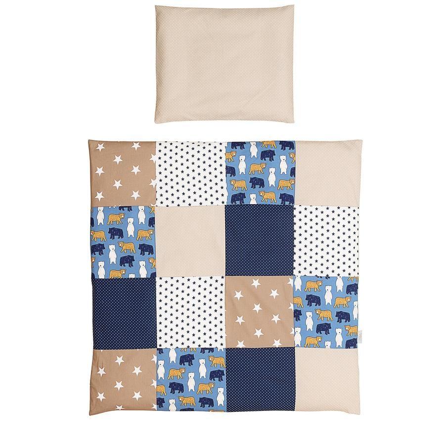 Ullenboom Baby Bettwäsche-Set Sand Bär 80 x 80 cm + 35 x 40 cm