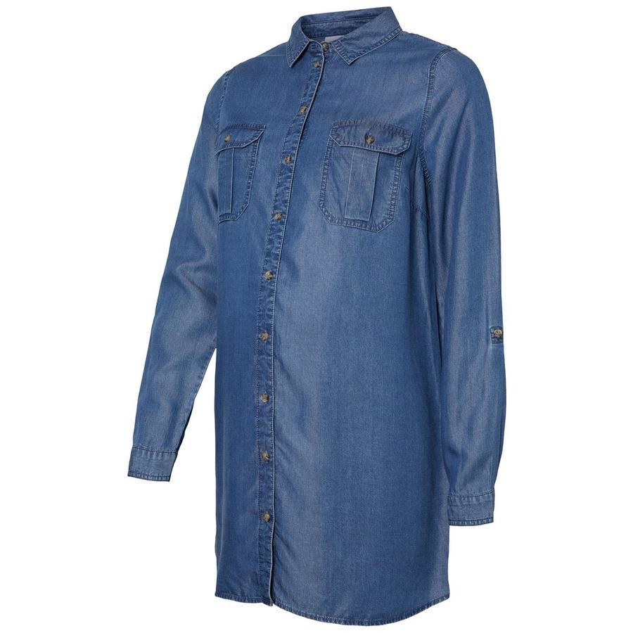 mama licious Camicia in jeans premaman MLLYDIA Light Blue Denim