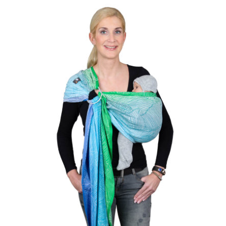 Hoppediz Ring-Sling Jacquard Quito Aqua Limited Edition