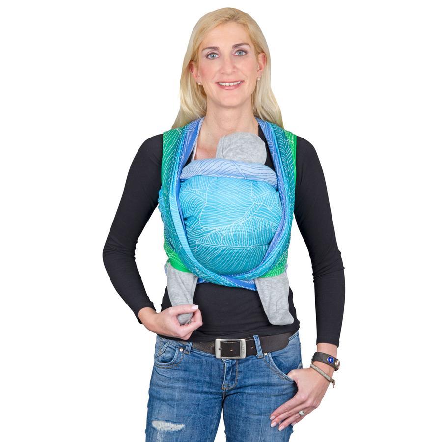 Hoppediz Maxi šátek Jacquard Quito Aqua Limited Edition
