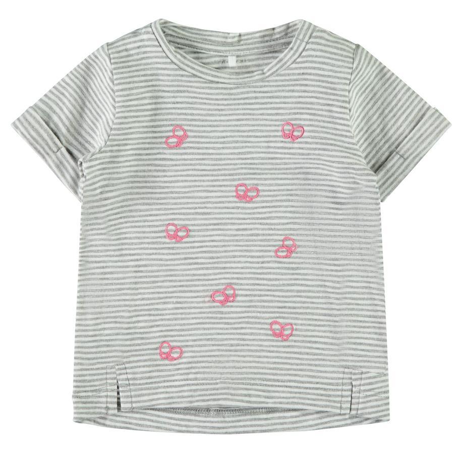 name it Girl s T-Shirt Fantasía Gris mélange