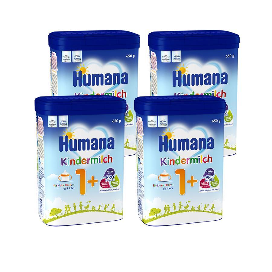 Humana Kindermilch 1+ 4 x 650 g ab dem 1. Jahr