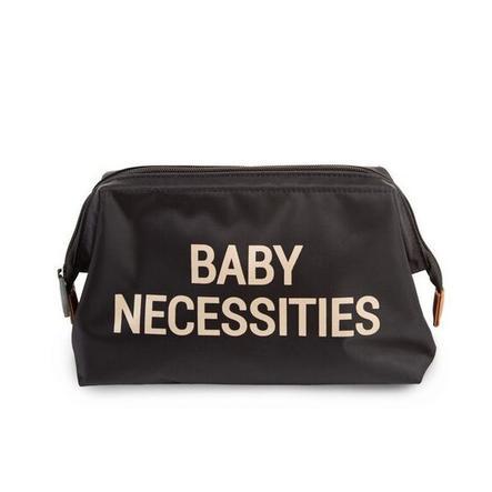 CHILDHOME Baby Necessities Kulturbeutel schwarz / gold