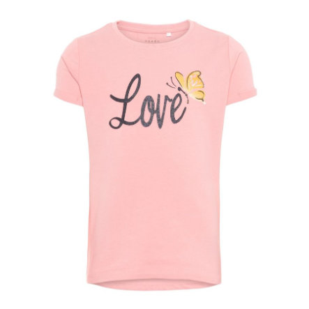 name it Girls T-Shirt Vixi Geranium Pink