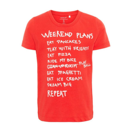 name it Boys T-Shirt Faplan Flame scharlakenrood