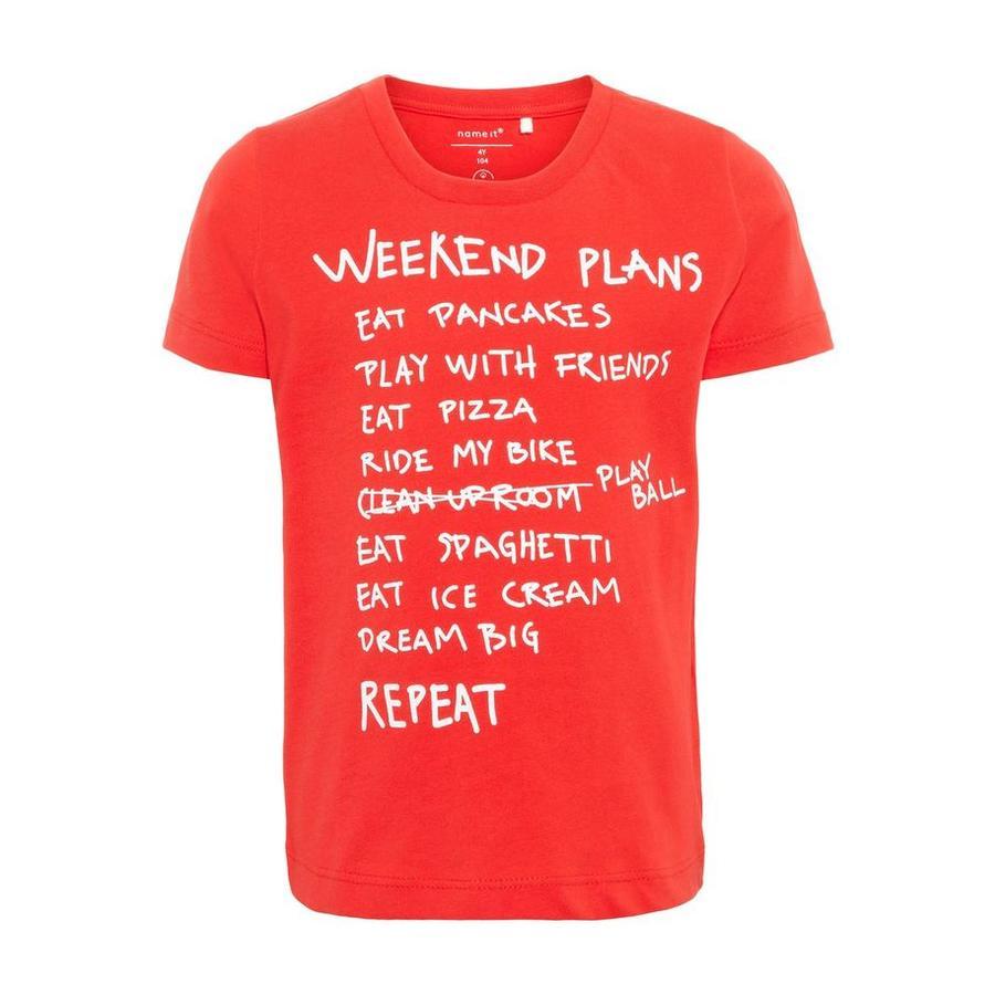 name it Boys T-Shirt Faplan Flame scarlet