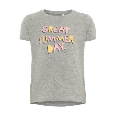 name it Girl s Mélange de gris T-Shirt Vixi