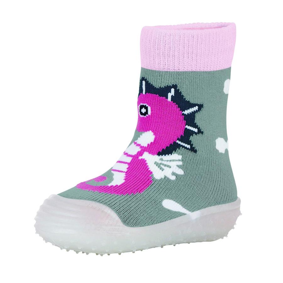 Sterntaler Girls Adventure-Socken Seepferdchen silber melange