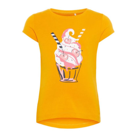 name it Girls T-Shirt Veen cadmium yellow