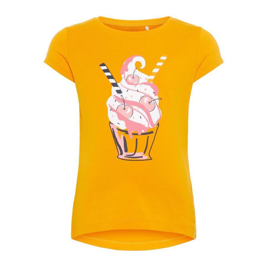NAME IT Tyttöjen T-paita Veen kadmium keltainen