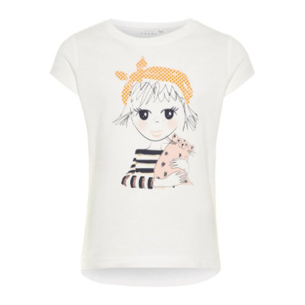 name it Girl s T-Shirt Veen blanc vif