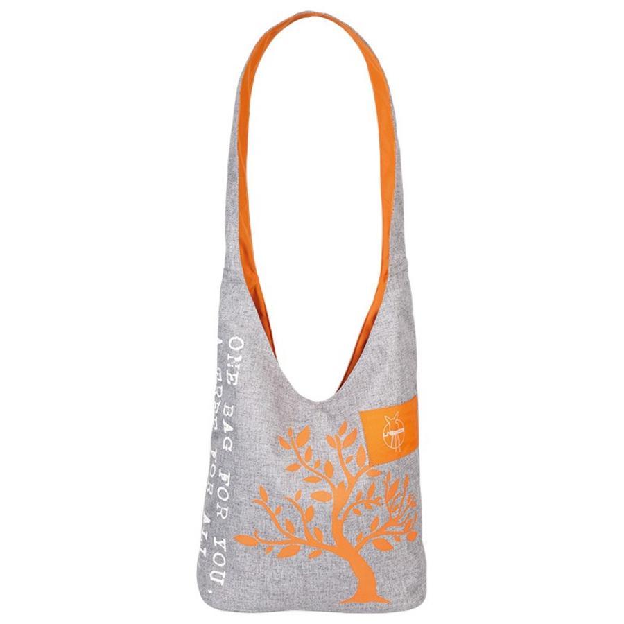 "LÄSSIG Green Label"" Shopper - Melange/arancione"