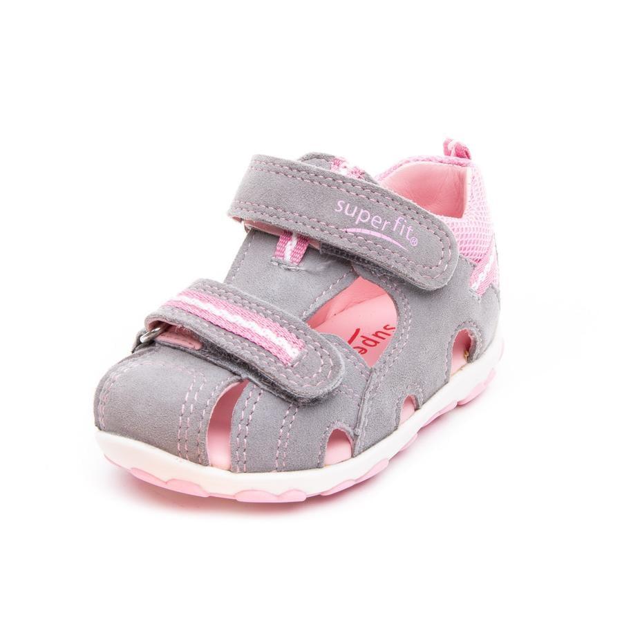 superfit Girl s Sandale Fanni gris clair/rose (moyen)