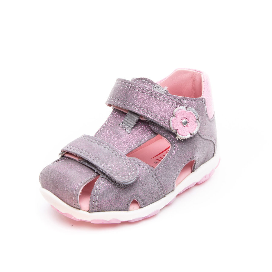 superfit Girl s Sandalia Fanni gris claro/rosa (mediana)
