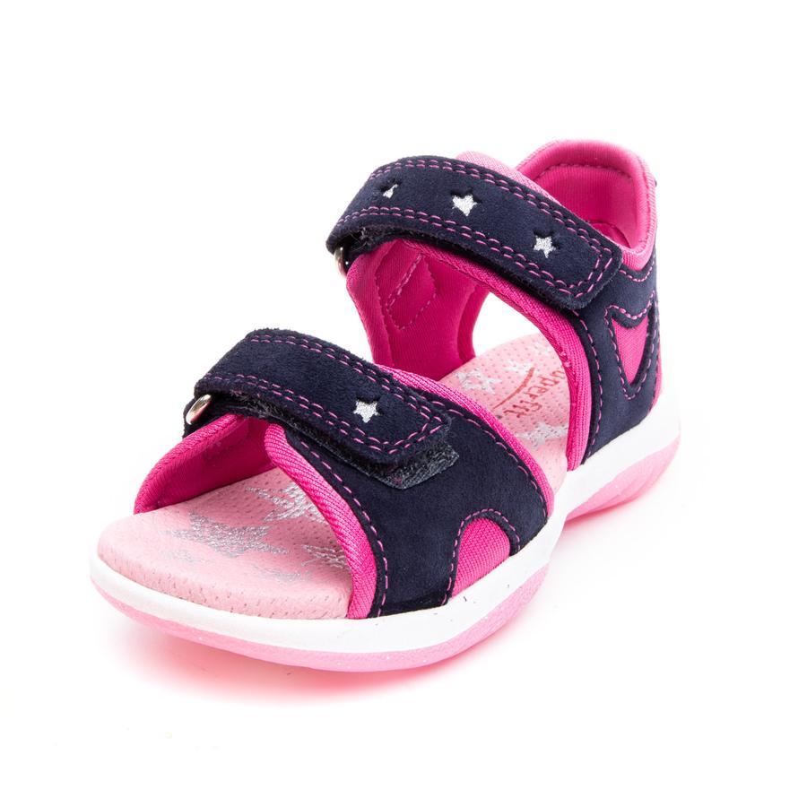 superfit Girl s Sandal Słoneczno-niebieski/różowy Sandal