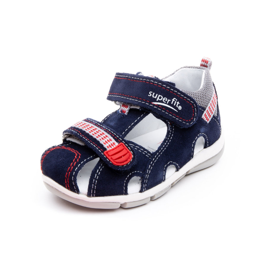 superfit Sandales enfant scratch Flow ocean kombi, largeur moyenne