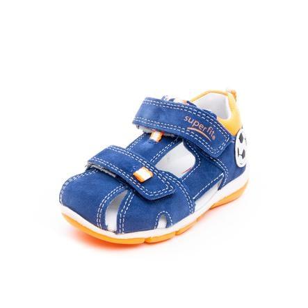 superfit Boys Sandaal Freddy blauw/oranje (medium)
