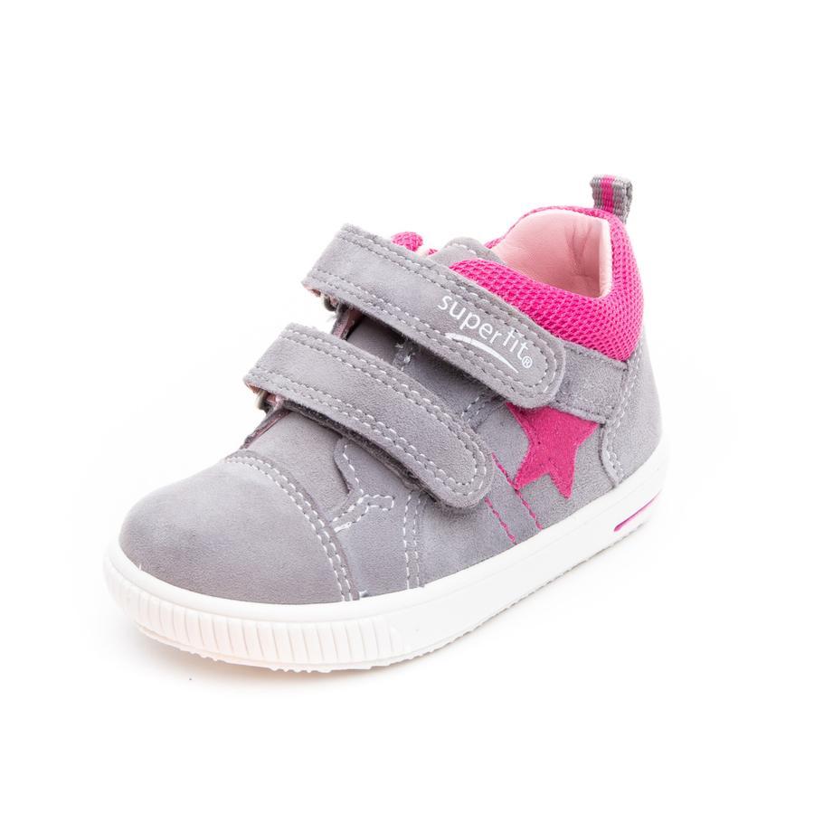 superfit lav sko Moppy lys grå / rosa (medium)