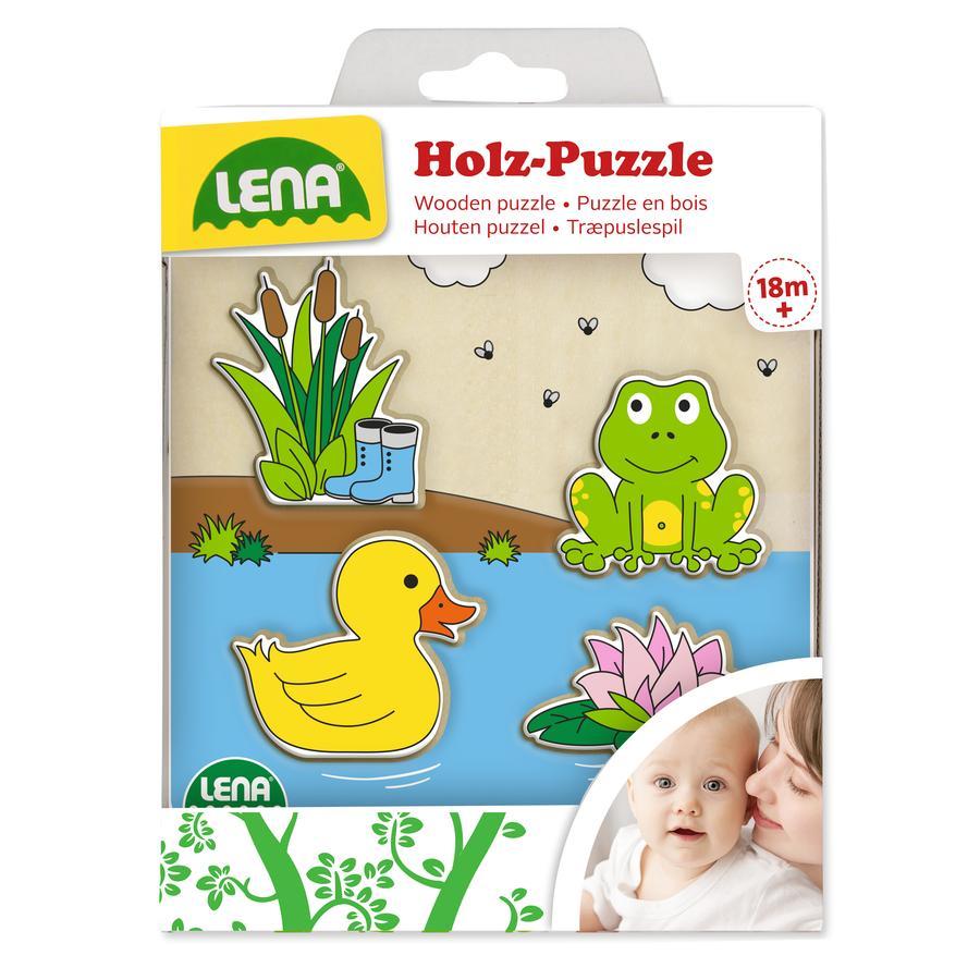LENA® Houten puzzel Eendenvijver
