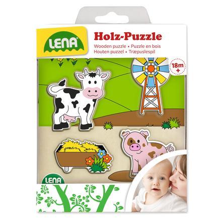 LENA® Puzzle di legno Laghetto delle paperelle