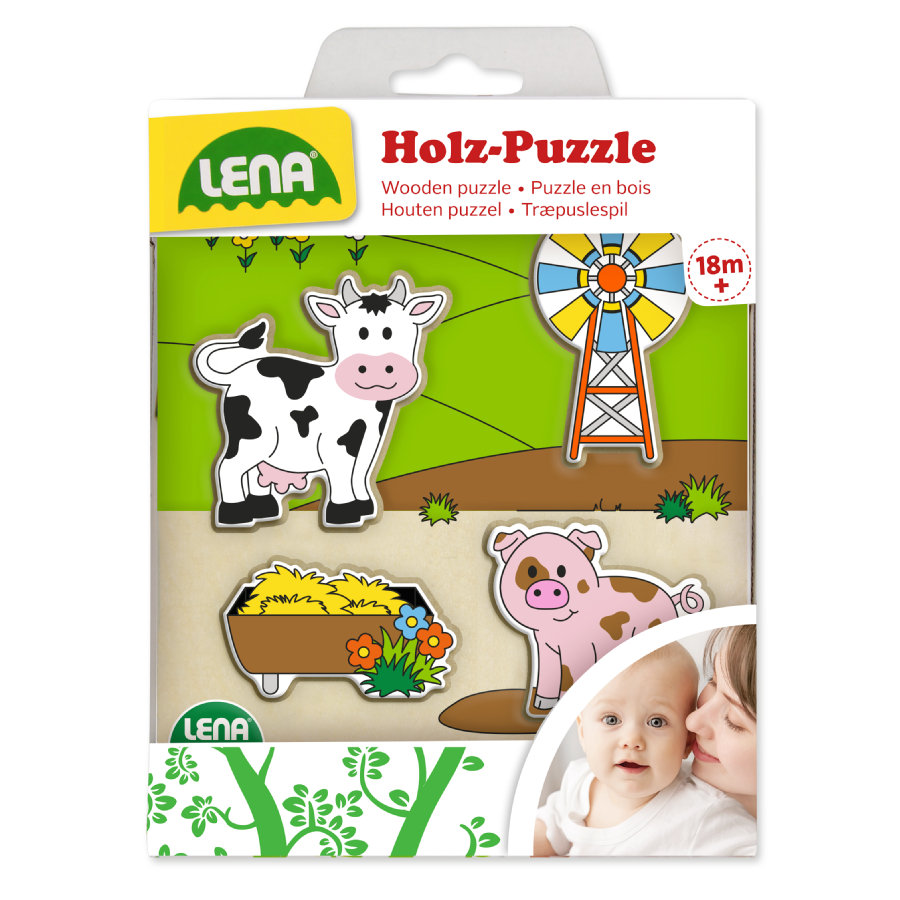 LENA® Holzpuzzle Weide