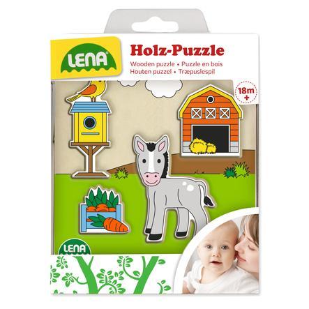 LENA® Holzpuzzle Scheune