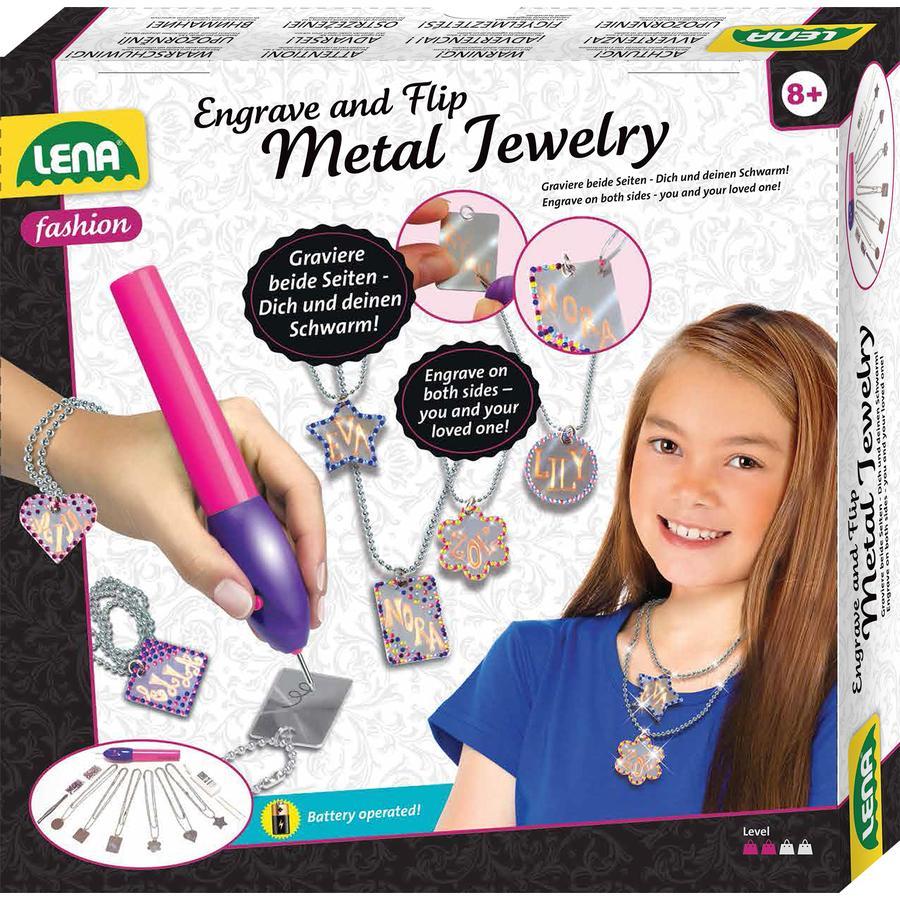 LENA® Jeu créatif gravure de bijoux enfant métal