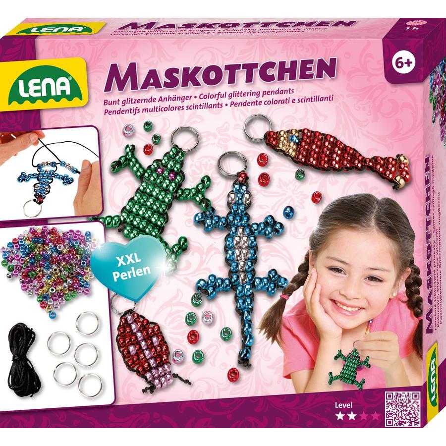 LENA® Perlentiere Maskottchen Schlüsselanhänger