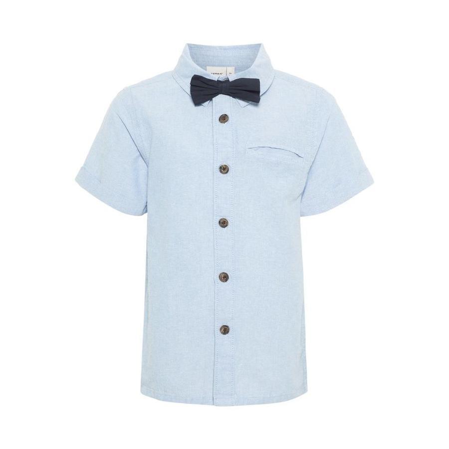 name it Boys Shirt Ashley Blauw