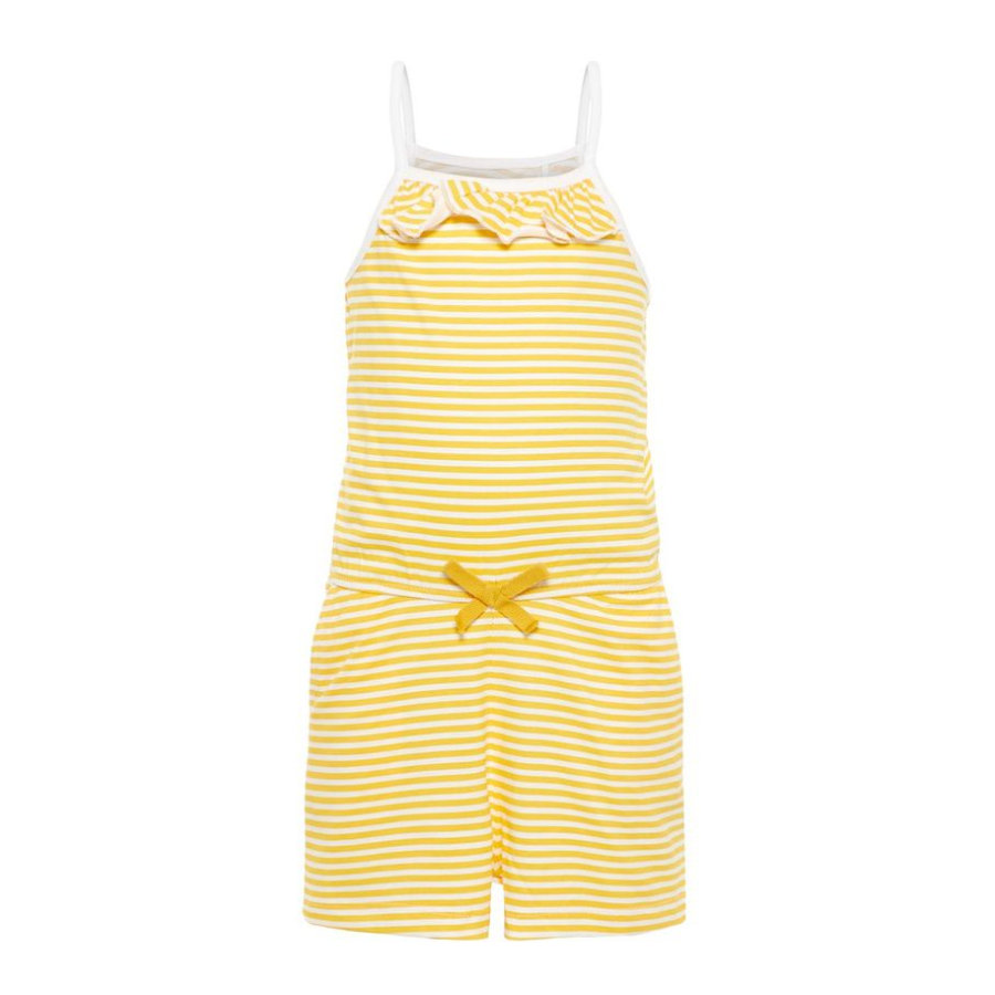 name it Girls Jumpsuit Vigga bright white stripe