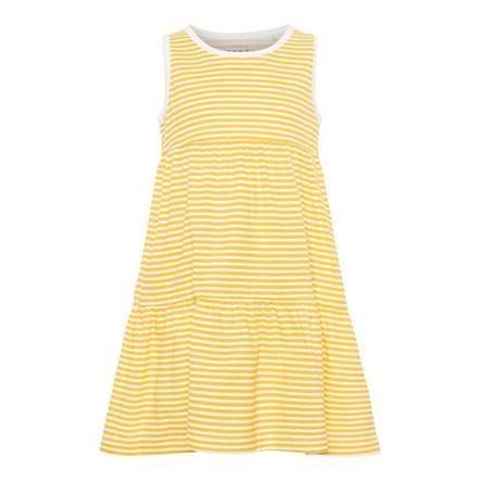 name it Girls Kleid Vigga bright white stripe
