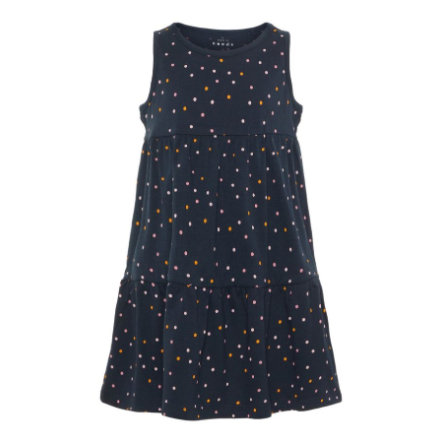 name it Girls Kleid Vigga dark sapphire Dots