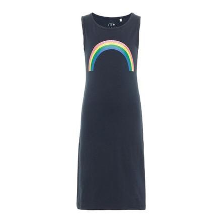 name it Girls Dress Nkfvippa dark safir Rainbow