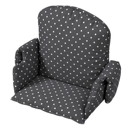 geuther Coussin d'assise de chaise haute bébé universel pois gris 4742