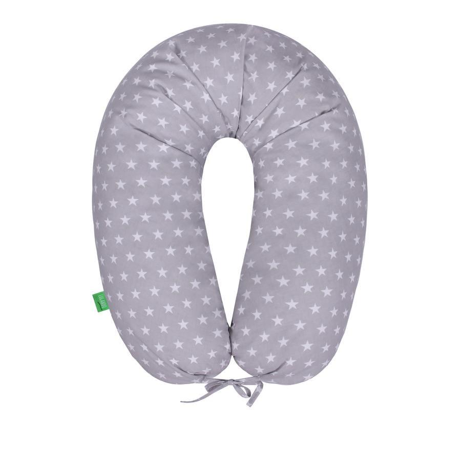 LULANDO Bomerang těhotenský polštář hvězdičky šedo-bílý