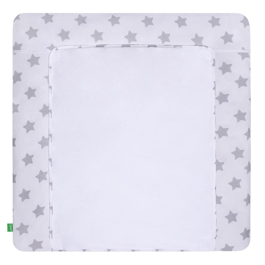 LULANDO pusleunderlag med 2 betræk stjerne hvid 76 x 76 cm