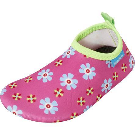 Playshoes Chaussons de bain enfant fleurs rose