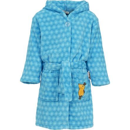 Playshoes Fleece-Bademantel DIE MAUS blau