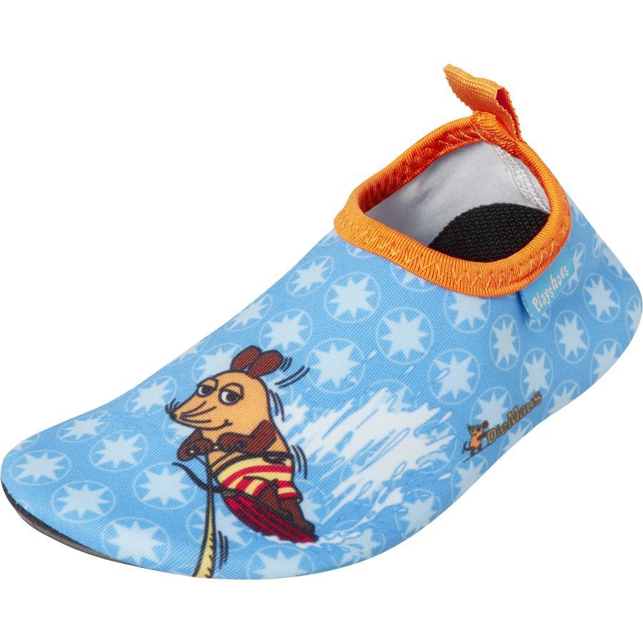 Playshoes Barfuß-Schuh Die Maus blau