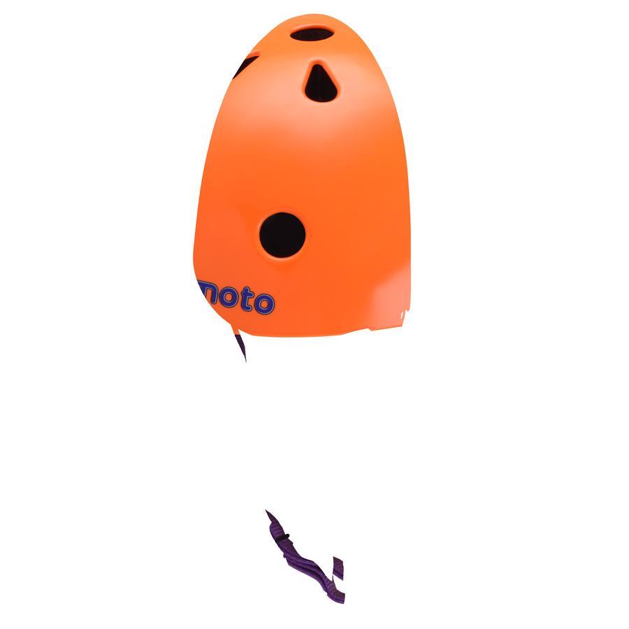 kiddimoto® Helm Design Sport, Neon oranje - Maat M, 53-58cm