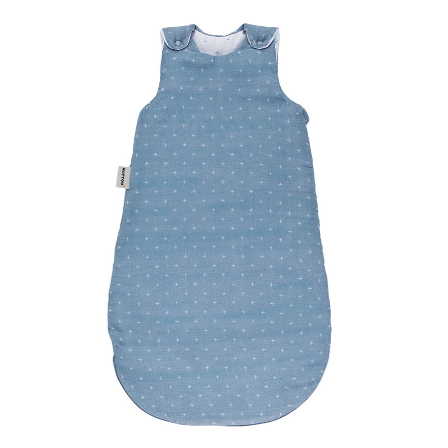 Nattou spací pytel Swaddle pure blue 70 cm