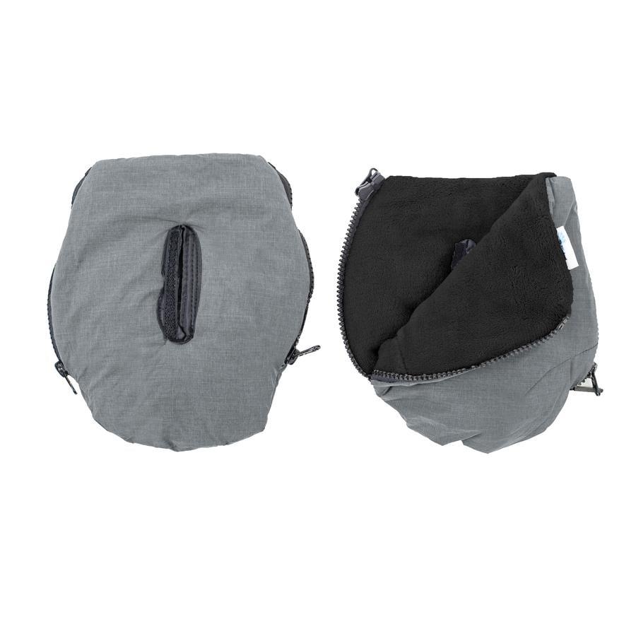 Altabebe handwarmer Alpin voor kinderwagens licht grijs-zwart