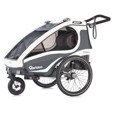 Qeridoo® Remorque vélo enfant Kidgoo2 anthracite
