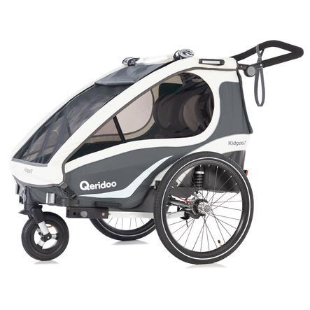 Qeridoo® Rimorchio per bici Kidgoo2 antracite