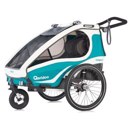 Qeridoo® Kinderfahrradanhänger Kidgoo2 Aquamarin
