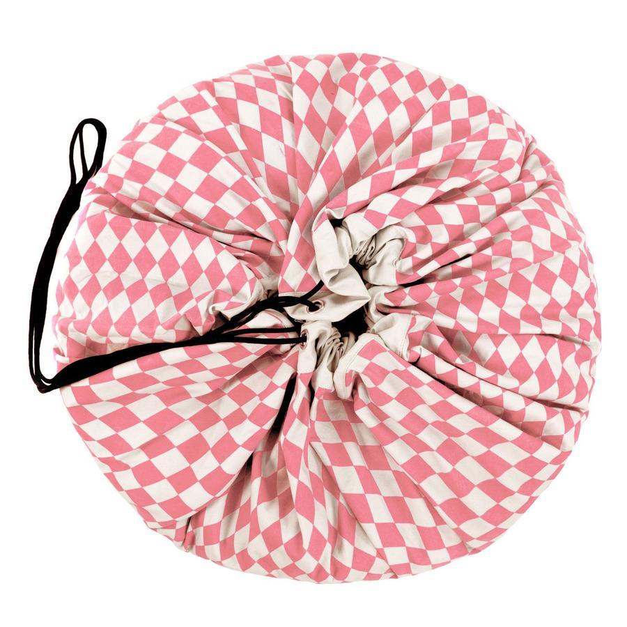 play&go® 2-in-1 Spielteppich & Spielsack, Diamond pink